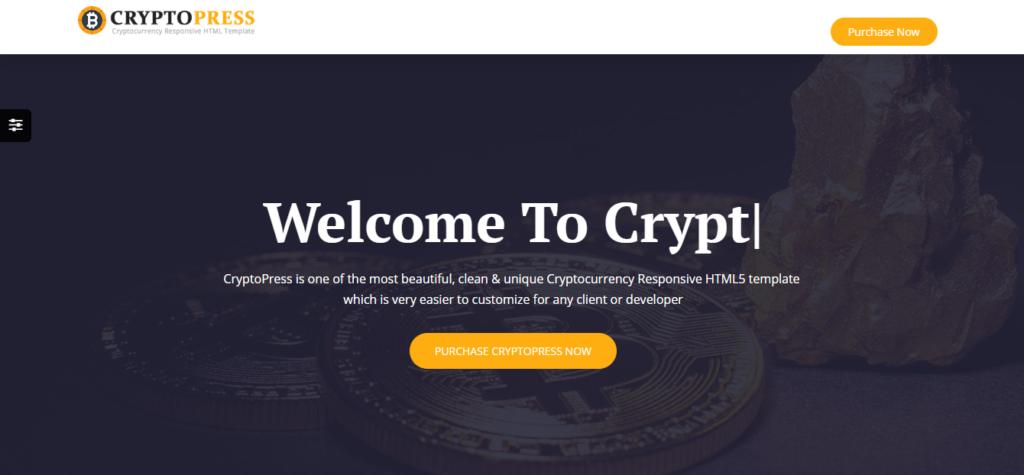 crypto press theme