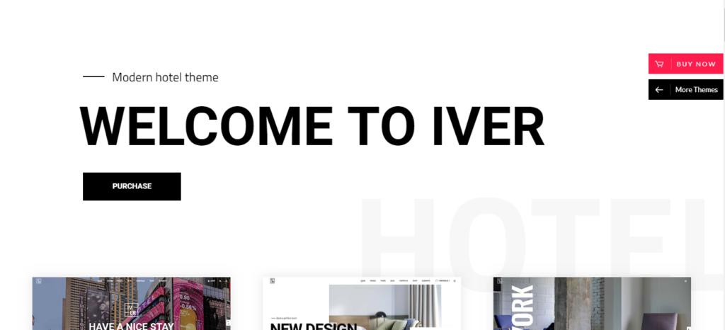 iver hotel and restrurent theme