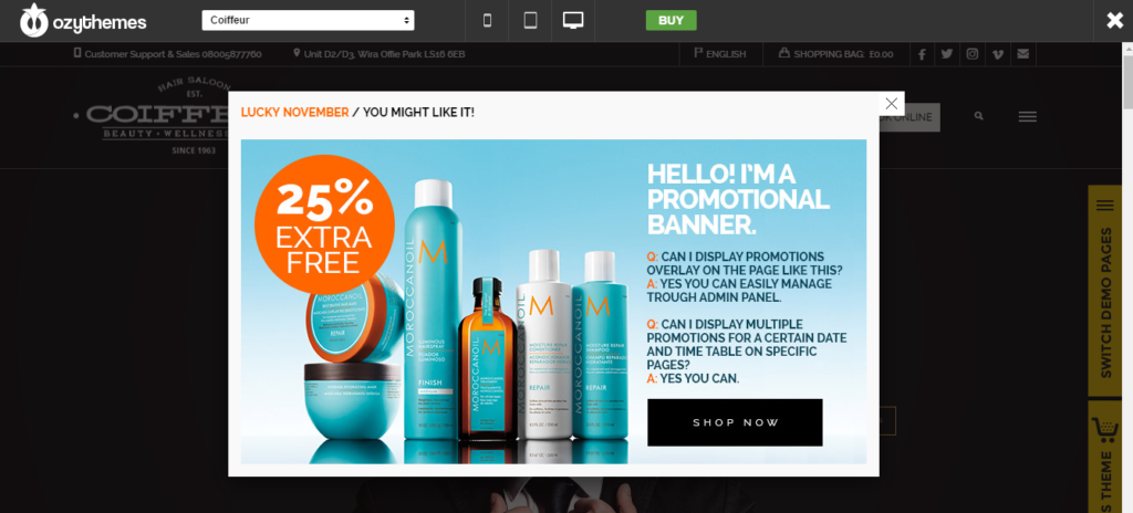 best salon product sell theme
