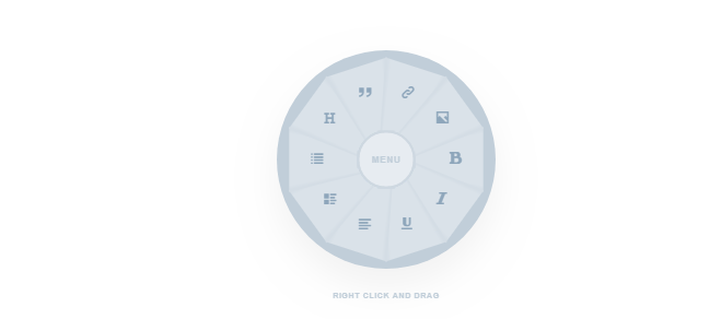 Round  shape menu
