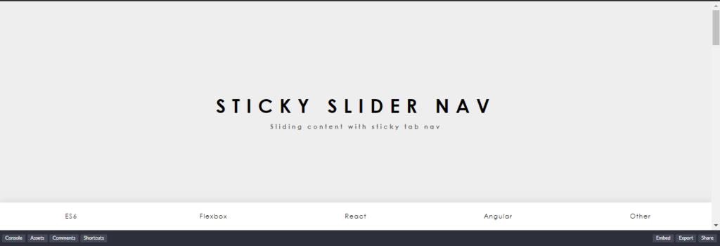 Sticky Slider Navigation