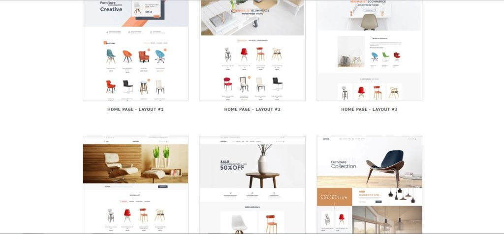 wooden color furniture theme