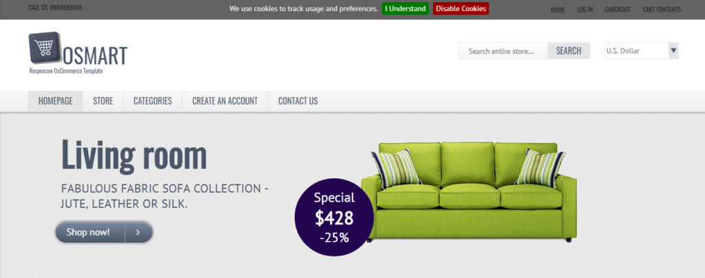 OSMART furniture sell theme
