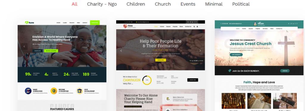 Non-Profit Charity theme