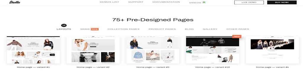 seventy five template pre design