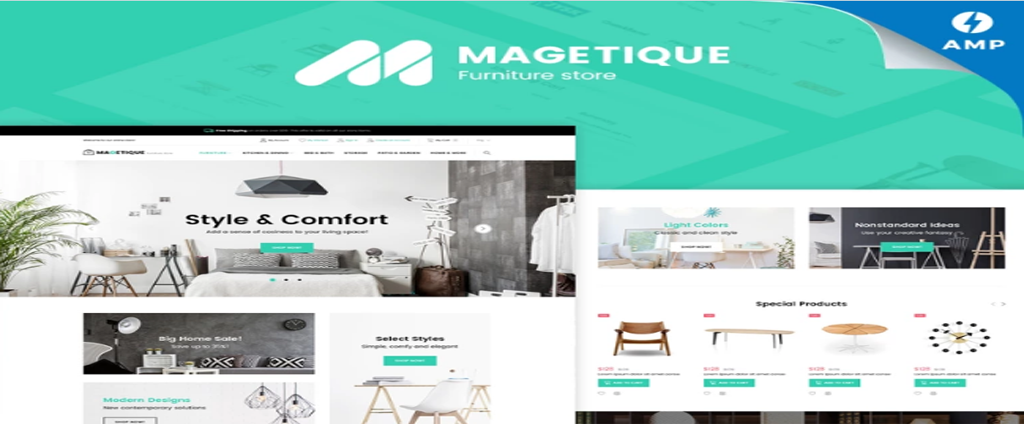 wood furniture theme and template