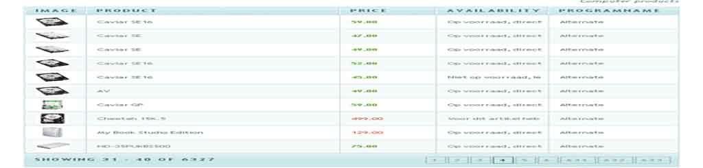 Powerful html5 table