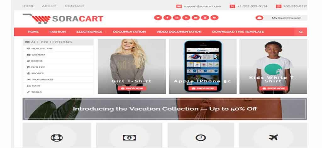 Ecomerce blogger theme