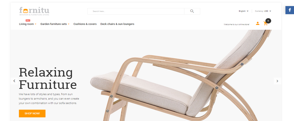 Relaxing chair sell theme magento