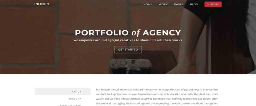 PORTFOLIO blogspot theme
