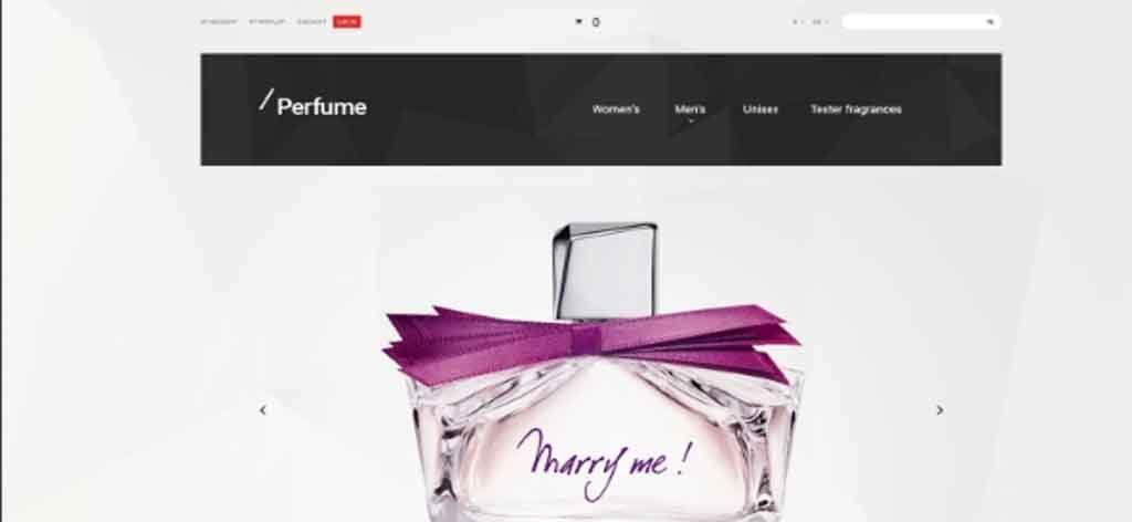 Perfume selling Magento Theme