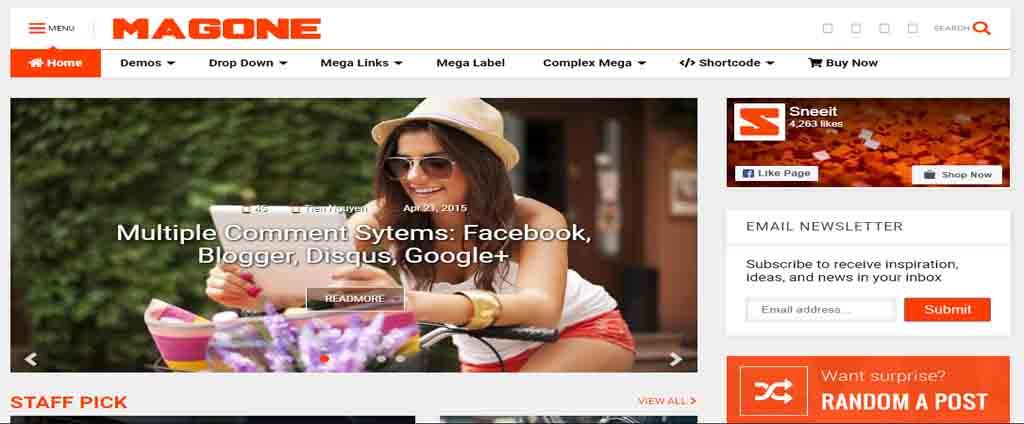 digital blog theme