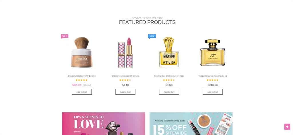 Face makeup theme magento