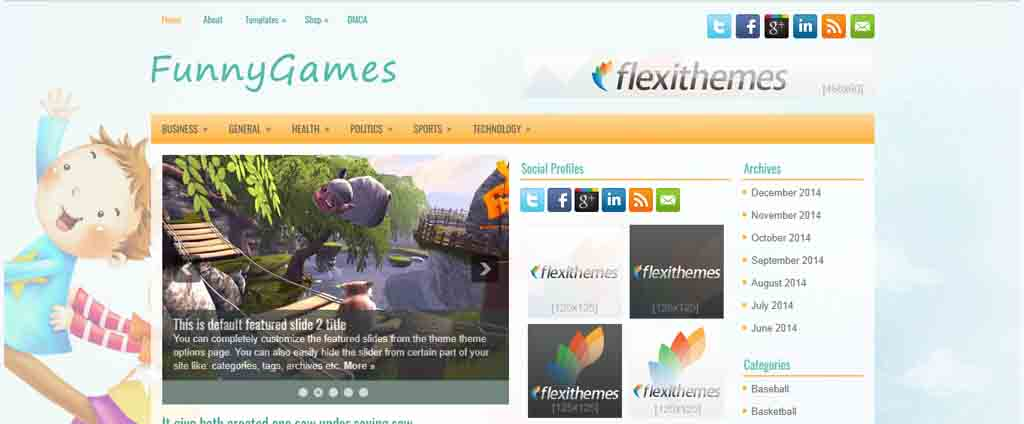 fun games wordpress theme