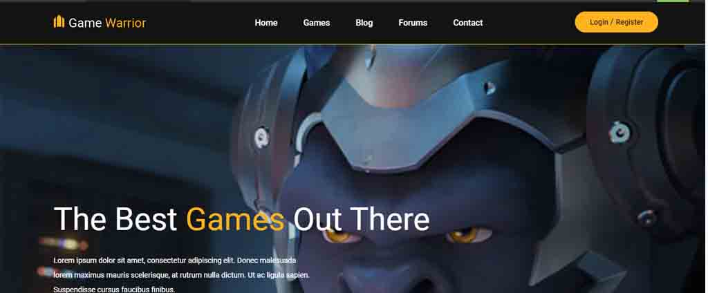 game warrior theme wordpress