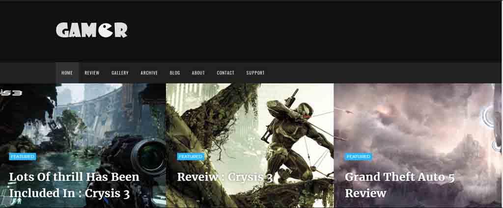gamer blogspot theme