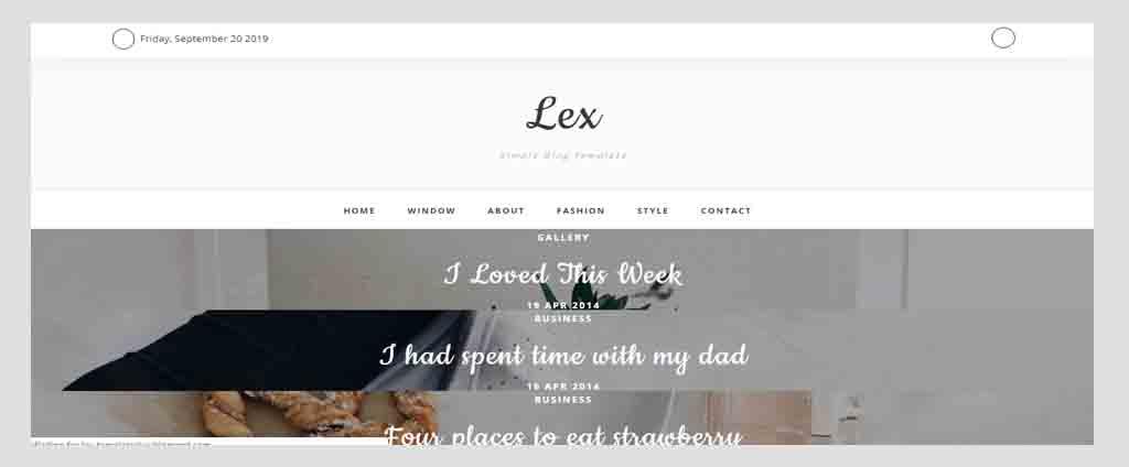 lex blogspot theme