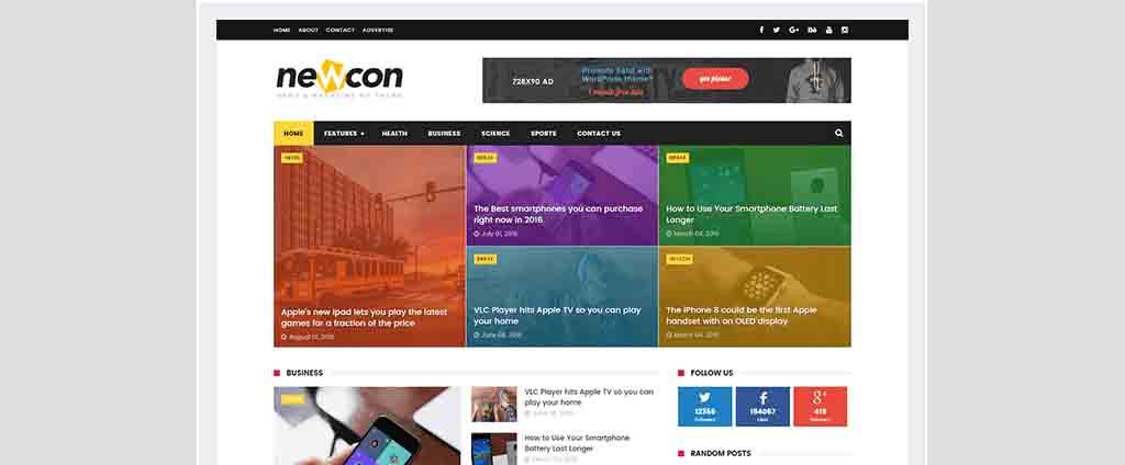news blogspot theme