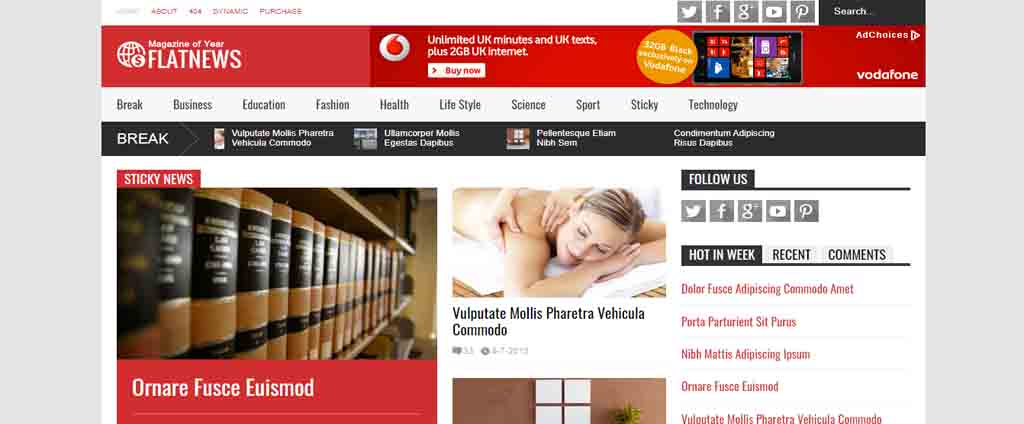 red news blogger theme
