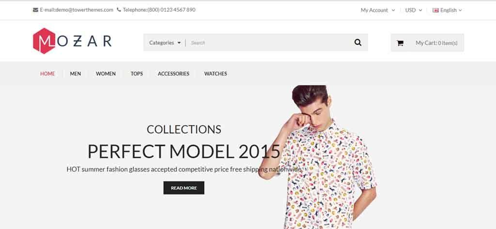 responsive opencart clothing theme