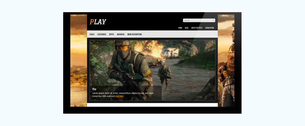 video games blogspot theme