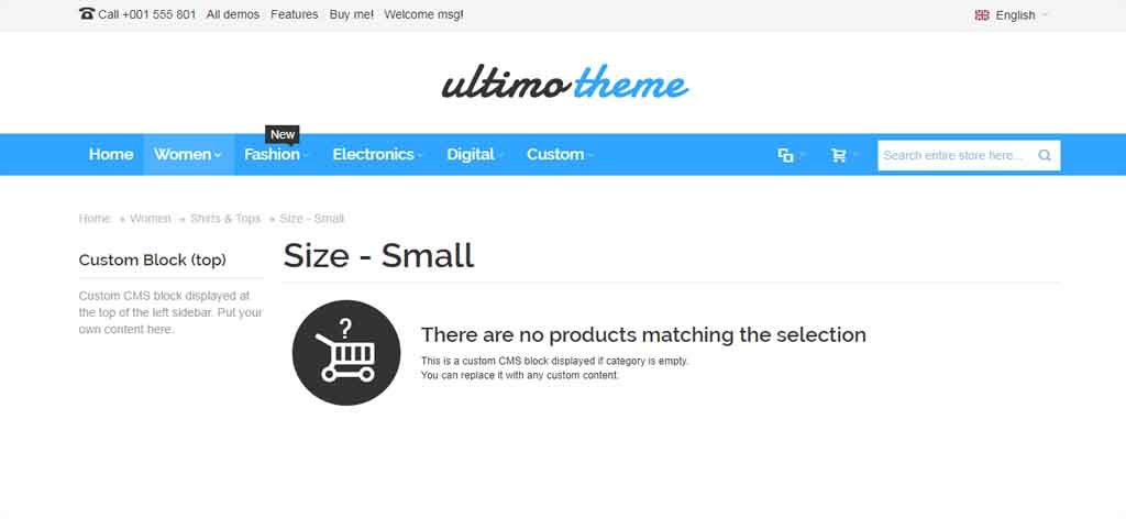 white ultimate theme magento