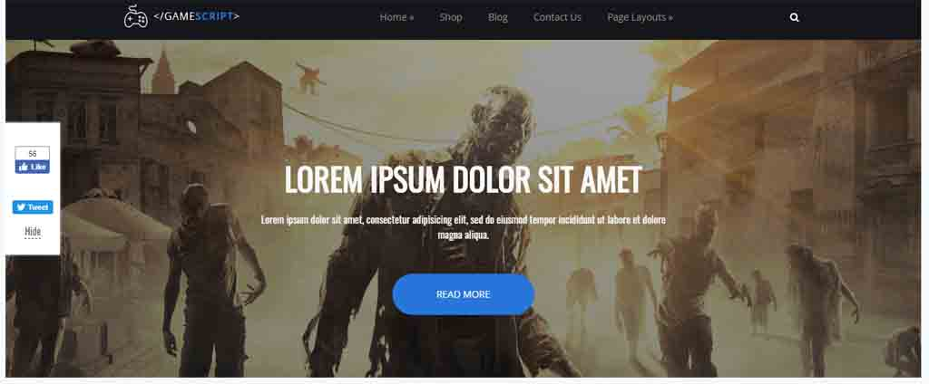 zombie game wordpress theme