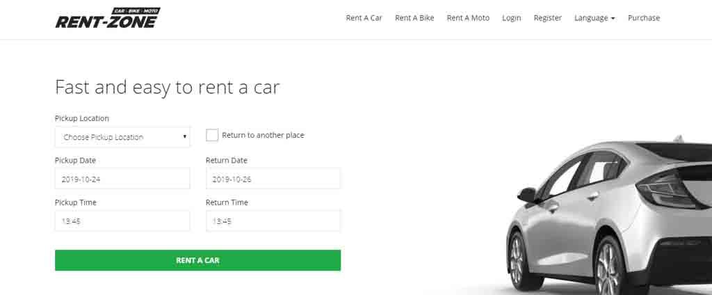 car booking online script