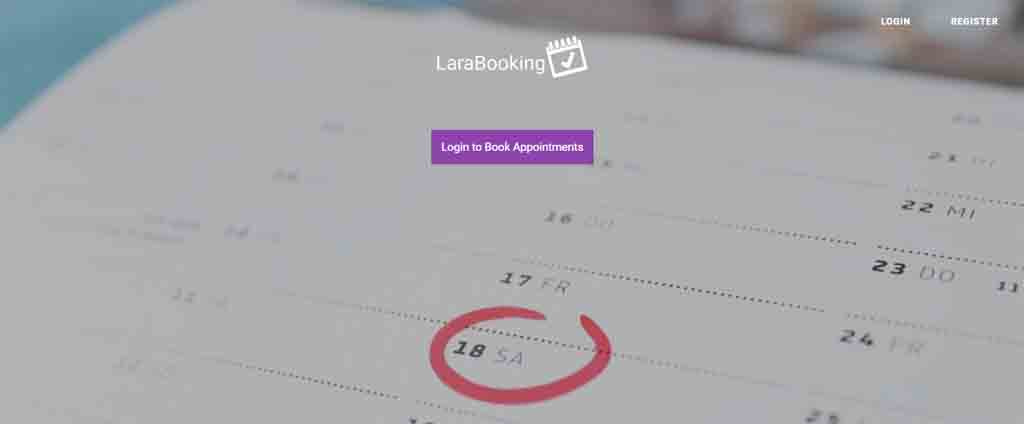 laravel online booking system