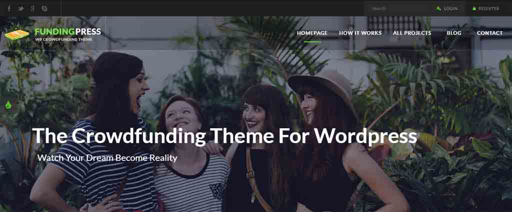 Crowdfunding WordPress Theme