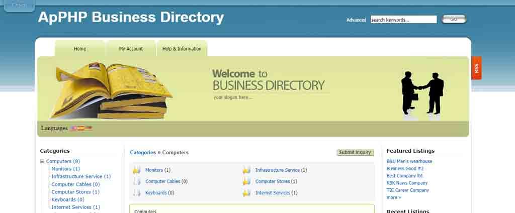 Listings Classified Directory Script