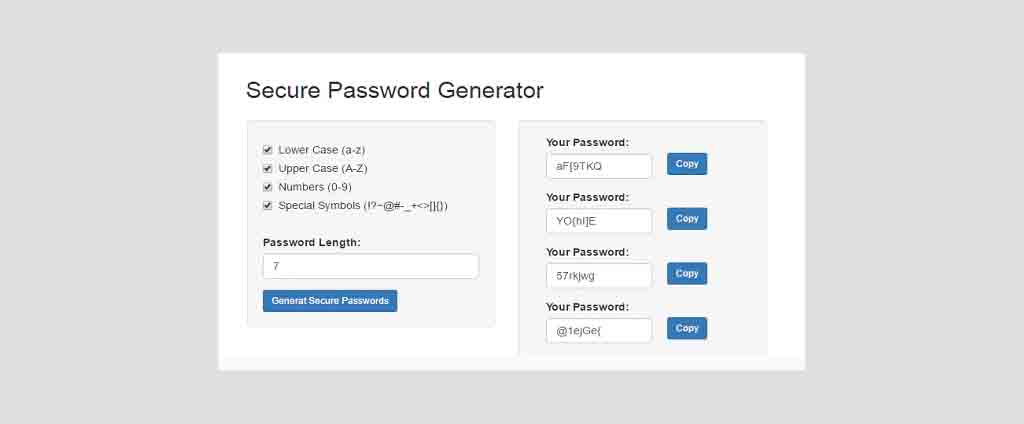 Secure Password Generator