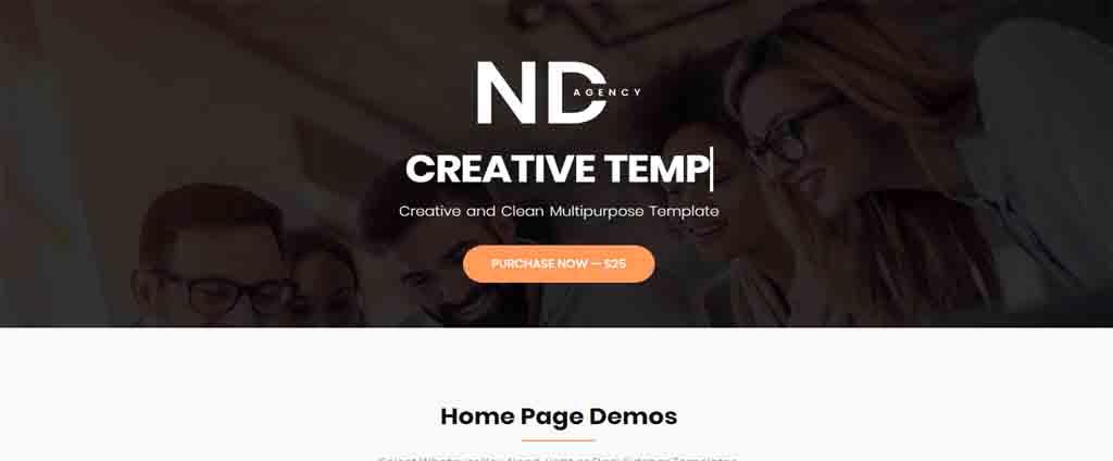agency html theme