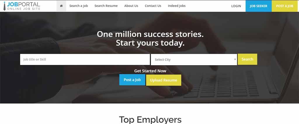 career portal - online job search script