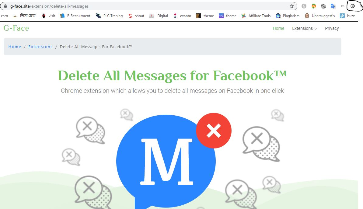 go to the facebook page messenger