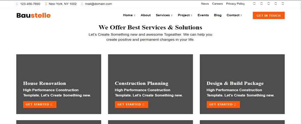 real estate and multipurpose template