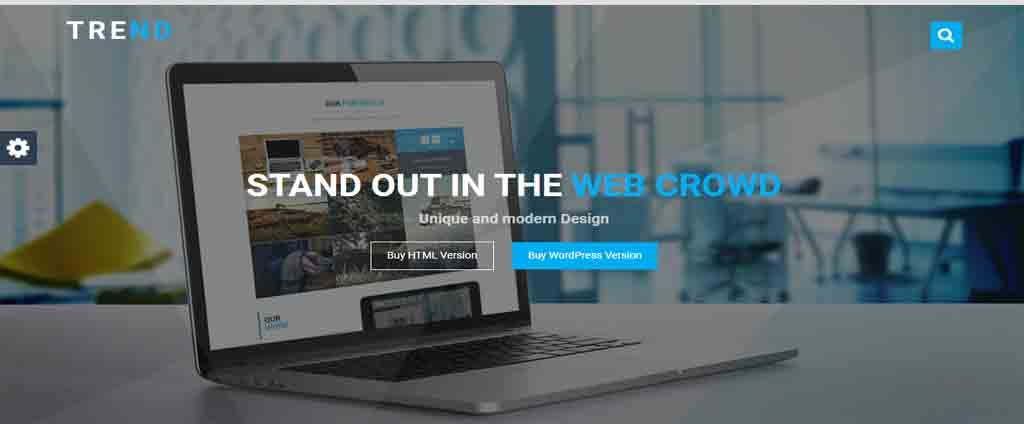 web crowd html template