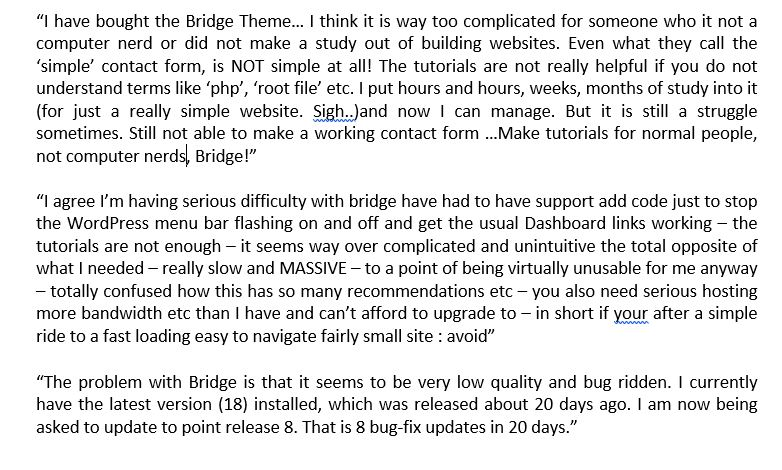 Bridge Theme comment