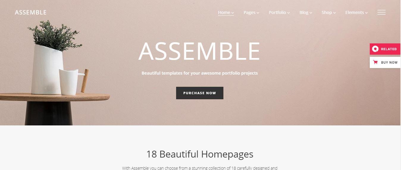 assemble wordpress theme