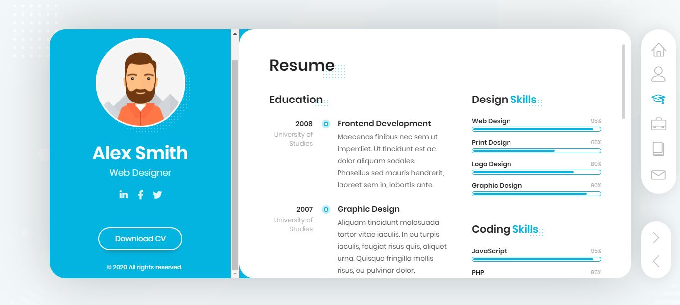 Free And Paid Resume WordPress And Others Theme Blog World