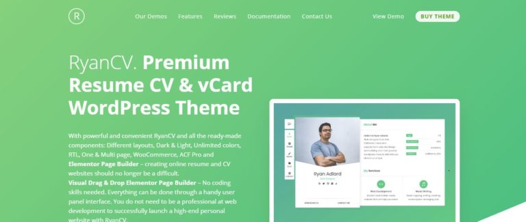 Free and paid resume WordPress and others theme - Blog world