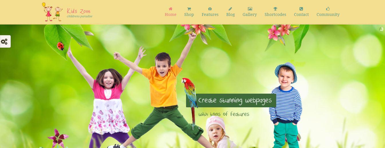 kids zone wordpress theme