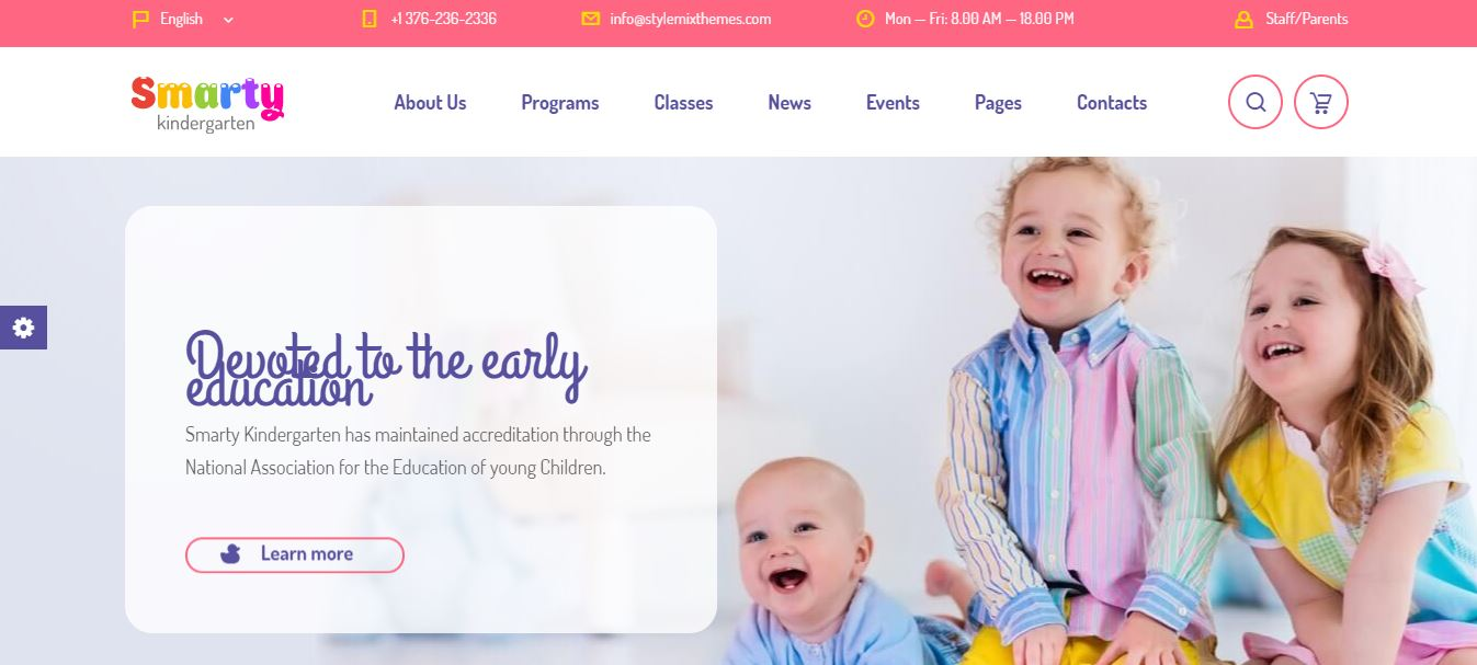 smarty kindergarten wordpress theme