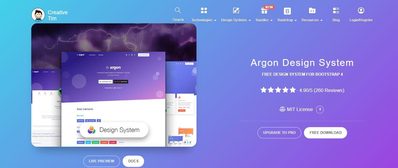 Argon template (Free)