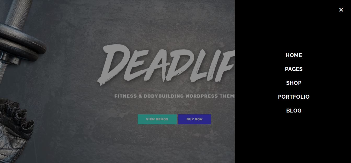 Deadlift wordpress theme