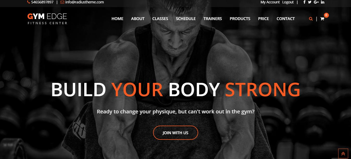Gym Edge wordpress