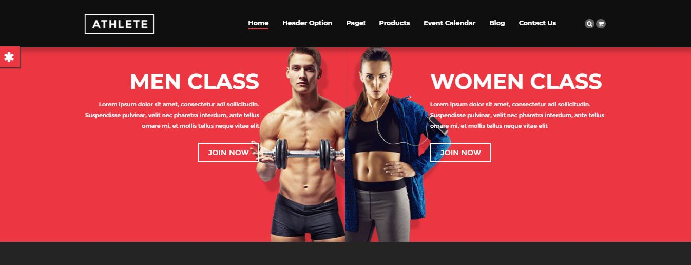 Null Athlete is the WordPress theme
