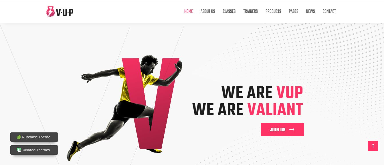 WordPress theme for fitness cente