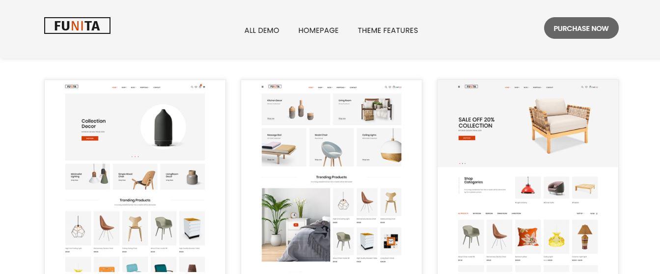 Funita - Multi Vendor WooCommerce Furniture Theme