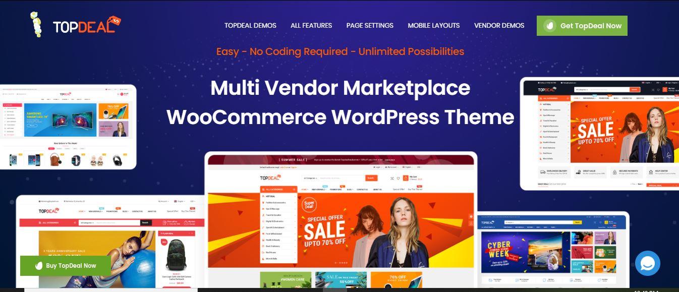 TopDeal - Multi Vendor Marketplace WooCommerce WordPress Theme